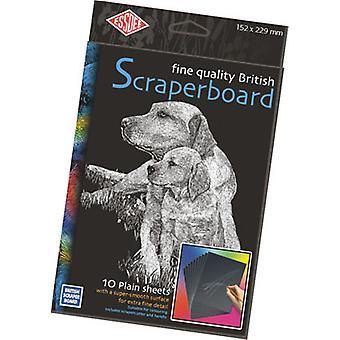 Essdee Black Foil Scraperboard 229x152mm 10 Pack