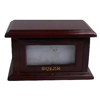 Dark brown Clamshell Photo Frame Pet Dog Urn Ashes Box 175*105*95mm