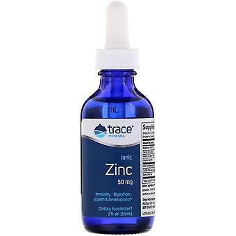Trace Minerals Research, Ionisch zink, 50 mg, 2 fl oz (59 ml)