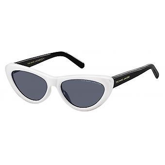 Sunglasses women butterfly black/white/blue