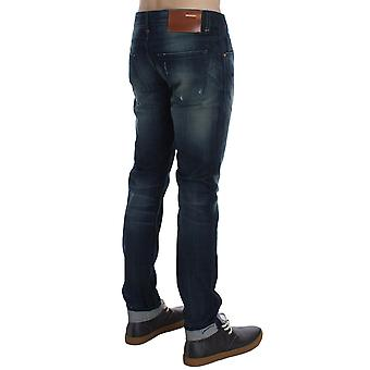 ACHT Blue Wash Cotton Denim Slim Fit Jeans SIG30494-1