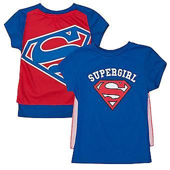 T-Shirt - Supergirl Girls Caped Tee - M Costume Cosplay ts4kuusgl