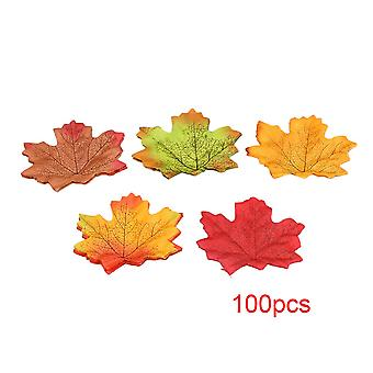 7mx9cm Faux Autumn Maple Leaf Decoration Set of 100