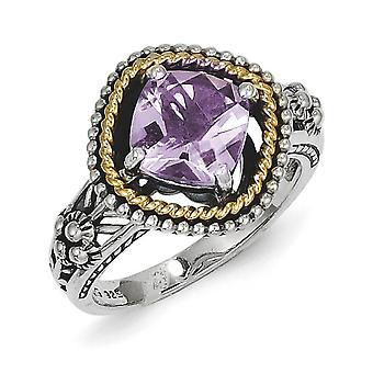 925 Sterling Silver finish With 14k 2.10Pink Amethyst Ring Jewelry Gifts for Women - Ring Size: 6 to 8