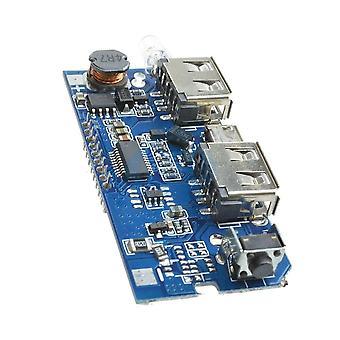 כפול כפול שני 2 USB 5v 1a 2.1a נייד Power Bank 18650 לוח מודול מטען סוללות עבור טלפון LCD להציג ערכת DIY עם אור