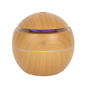 Small Round Wood Grain USB Powered Aroma Diffuser 150ml