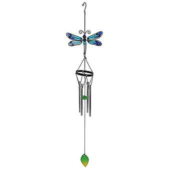 Something Different Blue Spotted Dragonfly Wind Chime