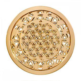 Nikki Lissoni Golden Maze Médio Ouro Banhado Moeda C1391GM