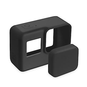 Protective Silicone Case Skinand Lens Cap For Go Pro Action Camera