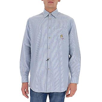 Gucci 633460zafd24396 Men's Light Blue Cotton Shirt