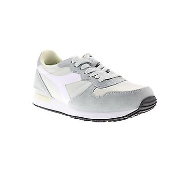 Diadora Camaro  Mens Gray Suede Lace Up Lifestyle Sneakers Shoes