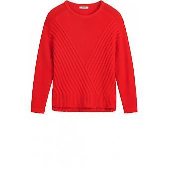 Sandwich Clothing Red Fine Knit Jumper