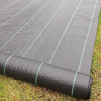 Heavy Duty Lined Weed Control Fabric 100gsm - Landscaping Ground Cover Membrane
