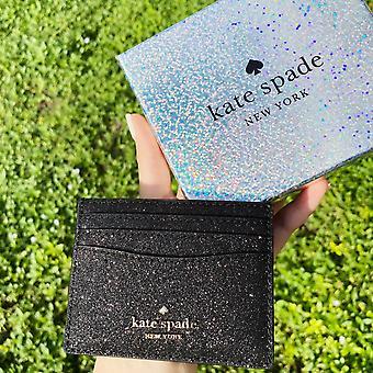 Kate pade lola joeley brilhante porta cartão carteira de presente preto