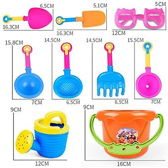 Children Outdoor Sand Beach Bucket Shovel Rake Water Toys Set (random Color)