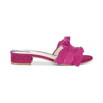 Alfani Womens Monah läder öppen tå Casual Slide sandaler