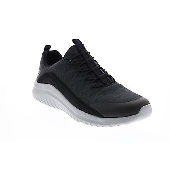 Skechers Ultra Flex 2.0 Herren Schwarz Canvas Lifestyle Sneakers Schuhe