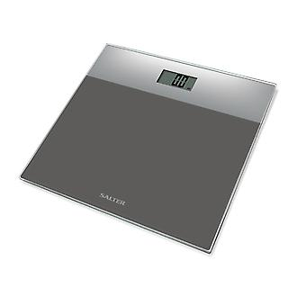 Salter Glass Electronic Bathroom Scales Silver 9206SVSVDR