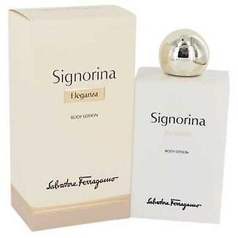 Signorina Eleganza By Salvatore Ferragamo Body Lotion 6.7 Oz (women) V728-541228