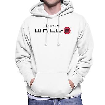 Pixar Wall E Classic Logo Men's Hooded Sweatshirt