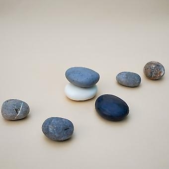 Handmade Pebble Shape Soaps In Natural Plain Colour