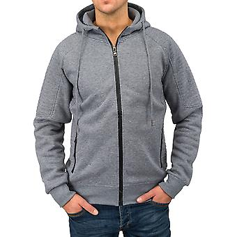 Mens Sweatjacket bred Sweatshirt jakke hette Fitness mote Zip Hettegenser