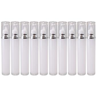 10x White Refillable Eye Cream Container for Travel Storage Makeup 20ml