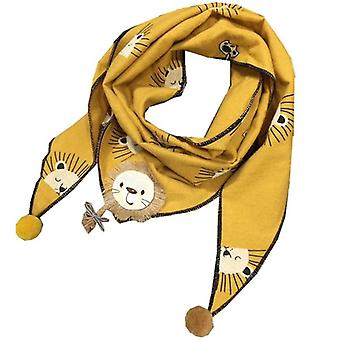 Autumn Winter Lion Triangle Scarf