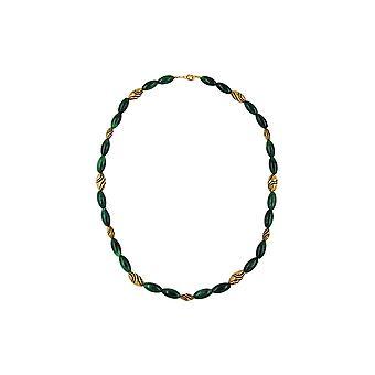 Kaulakoru Helmiä Vihreä-marmoroitu 60cm