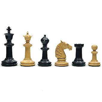 Traditionele Staunton Ebony Bad schaakstukken 3,75 inch