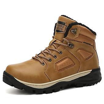 Leren winter, waterdichte warme bontsneeuwlaarzen, outdoor casual schoenen en militaire