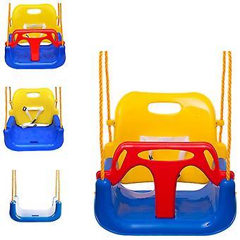 EXTSUD Baby Swing Seat Outdoor, Elastic Children's Folding Swing (Yellow + Blue)