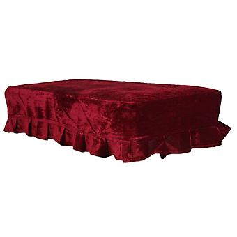 Piano Double Stool Dust Cover Red Protective   Lace Design Dustproof   Scratch Resistant