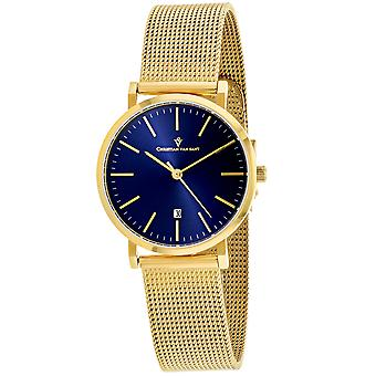Christian Van Sant Women's Paradigm Blue Dial Watch - CV4224