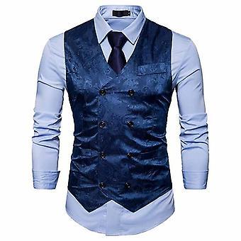 Mænd Fashion Casual Suit Vest Arbejde Coat Mænd Vest Blazer