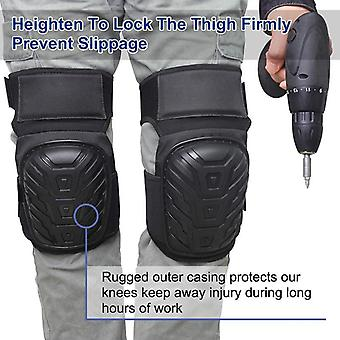 Motorcycle Leg Cover Adjustable Straps Safe Eva Gel Cushion Pvc Shell Knee Pad