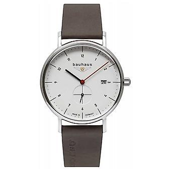 Bauhaus Men's Brown Leather Italian Strap | White Dial 2130-1 Watch