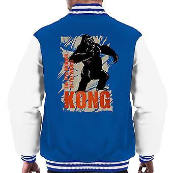 King Kong rugiendo la 8a maravilla del mundo hombres's chaqueta Varsity