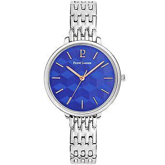 Pierre Lannier reloj de mujer relojes MIRAGE cuarzo negro 026K661 - pulsera de acero de plata