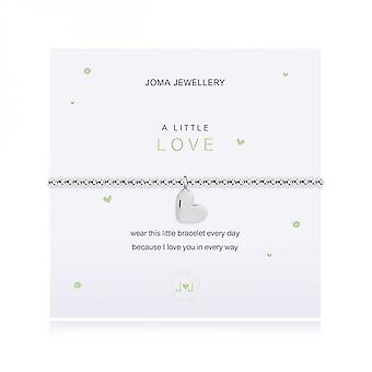 Joma Jewellery A Little Love Silver 17.5cm Stretch Bracelet 4003