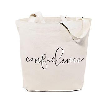 Borsa tote in tela in cotone confidence