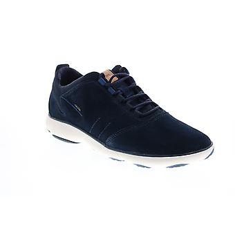 Geox U Nebula Mens Blue Suede Lace Up Euro Sneakers Chaussures