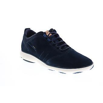 Geox U Nebel Herren Blau Wildleder Schnürung Euro Sneakers Schuhe