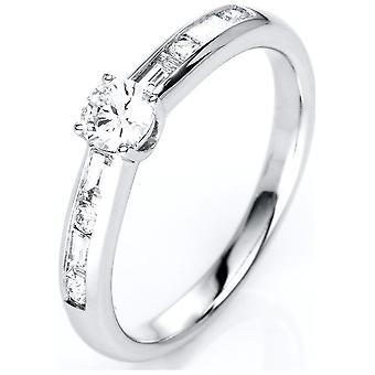 Luna Creation Promessa Solitairering com acabamento lateral 1C857W854-5 - Largura do anel: 54