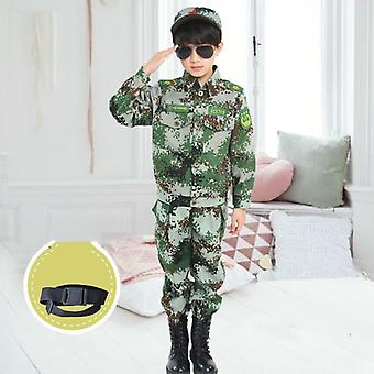 Children Camouflage Clothing Set - Kids Military, Army Scouting Uniform Camp