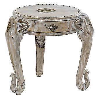 Boční stůl Dekodonia Mango dřevo Mosazný slon (45 x 45 x 45 cm)