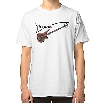 איבנז בס לוגו חולצת טריקו גיטרה
