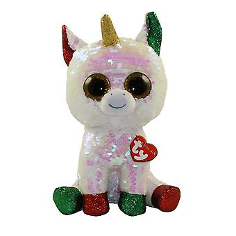 Ty flippables sequin plush stardust the christmas unicorn