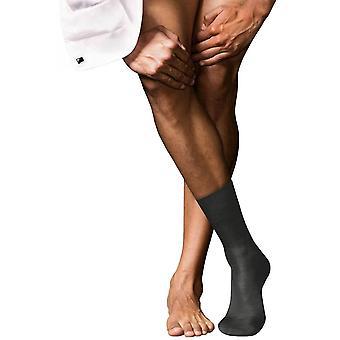 Falke No15 Finest Supima Cotton Socks - Anthracite Grey