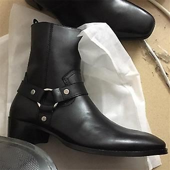 Leather Handmade High Top West Justin Luxury Men Boot